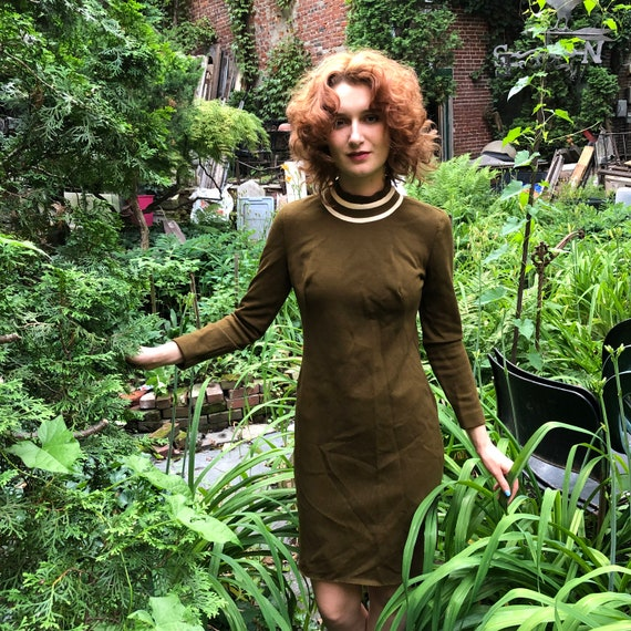 1960's Green Jonathan Logan Mod Dress