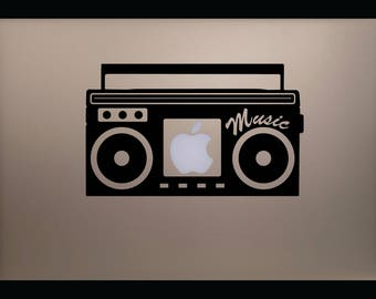 Music Stereo MacBook Decal