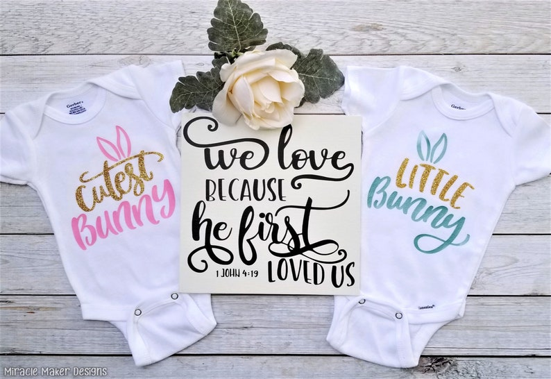 Cutest Bunny Easter Bodysuit My First Easter Easter Gift Baby Easter Gift Baby Spring Outfit Easter Bunny Shirt Baby Easter Clothes