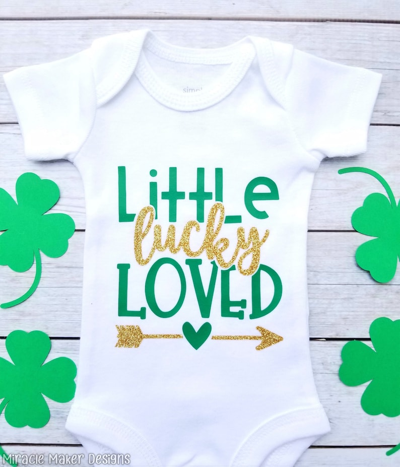 Little Lucky Loved Bodysuit St. Patrick s Day Outfit  4c5149477