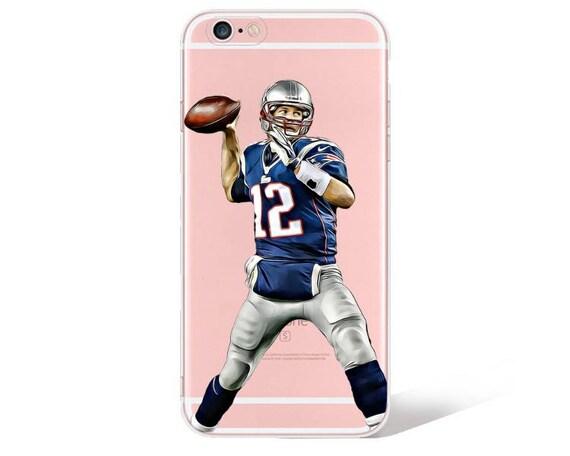 Tom Brady IPhone cas, étui de téléphone New England Patriots, clair, Football étui pour Iphone 6,7,8
