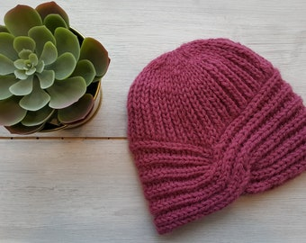 fbde2afea1952 Knitted hat turban Bordeaux woolen handmade hat knitted hats knitted cap  turban knitted hat wool winter hat beanies hats warm hat cute hats