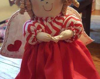 Red valentine angel