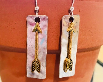 MalaMeBoutique Golden Arrow Earrings