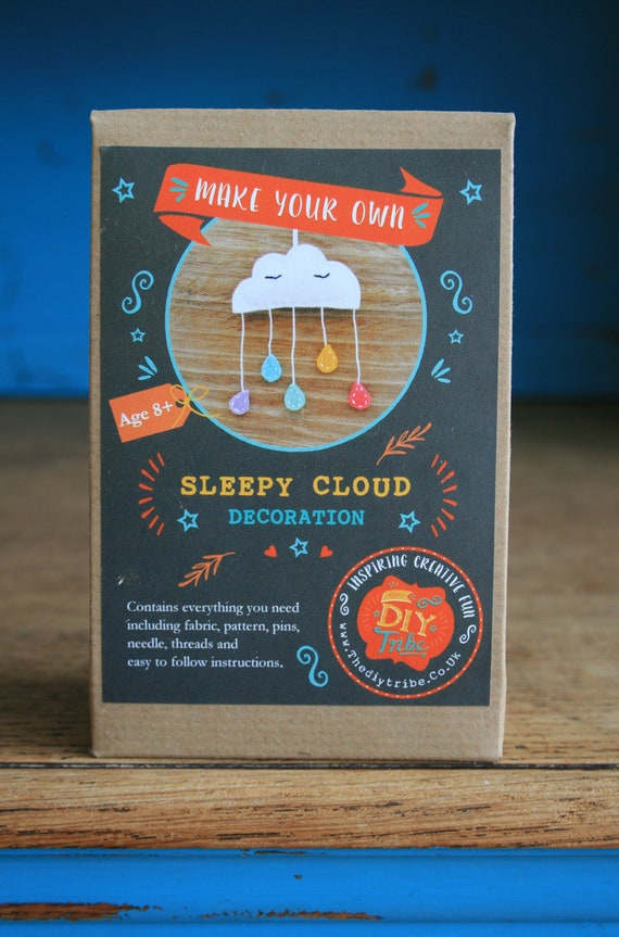 Make Your Own Sleepy Cloud Decoration Sewing Kit