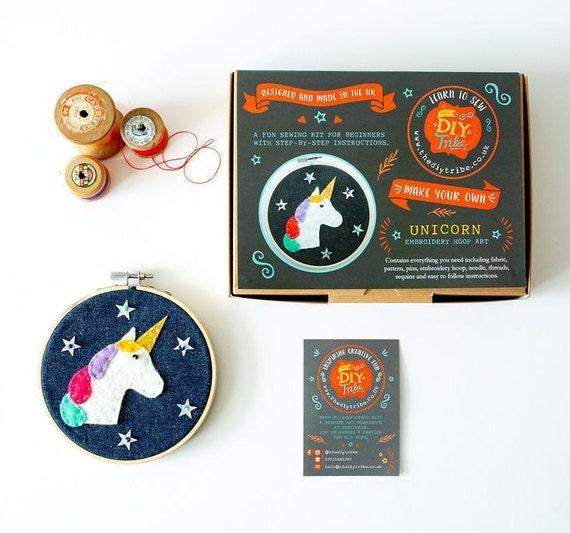 Sparkly Unicorn Hoop Craft Kit