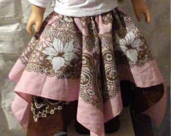 18in doll bandana skirt