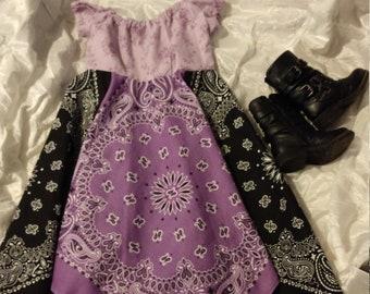 Purple and black Bandana dress