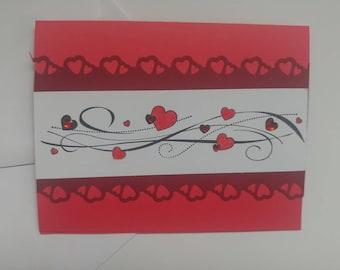 Valentine's Day, Handmade card, Valentine Card, Greeting Card, Happy Valentine's Day, Heart