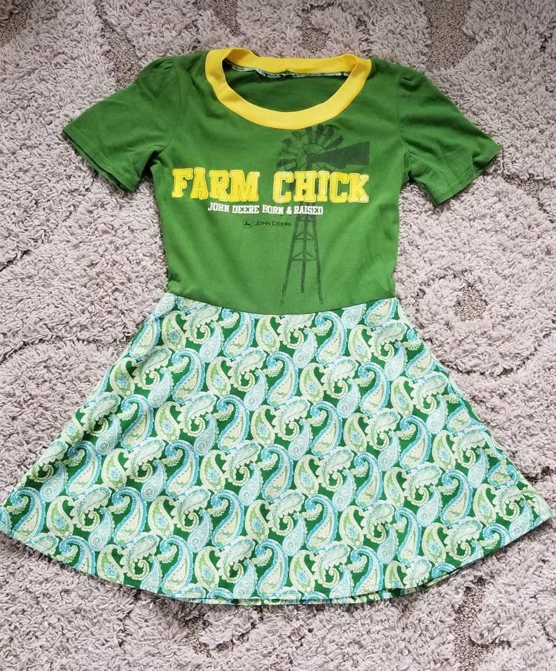 dbdbaad6e Farm Chick John Deere Girls' Paisley Dress | Etsy