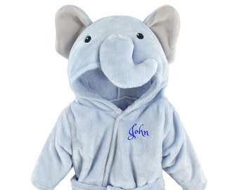 PERSONALIZED Baby Bathrobe -Animal -Infant Bath robe -Custom Monogram  Name  Embroidered Gift  Elephant  Infant  Baby Shower  Baby Bath Robe f5abab3a2