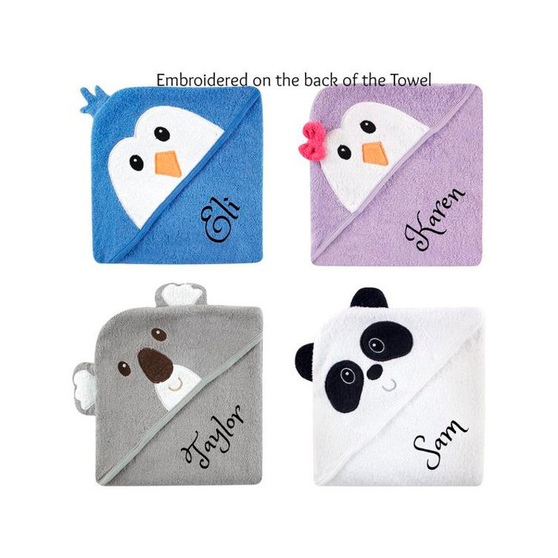 Personalised Towel Penguin 5 Penguin Embroidered Towels