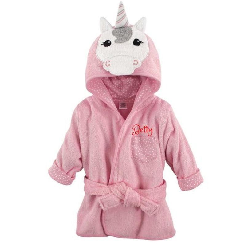PERSONALIZED Baby Terry Bathrobe -Infant Bath robe -Custom Monogram  Name  Embroidered Gift  Unicorn  Infant  Baby Shower  Baby Bath Robe e68022aa6