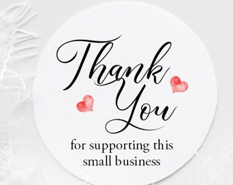 Thank you for supporting this small business stickers - Packaging Stickers - Packaging Labels - Thank You Stickers