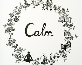 Calm drawing