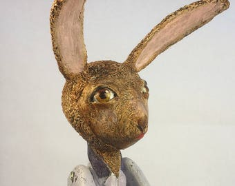 Easter Rabbit with eggs and basket
