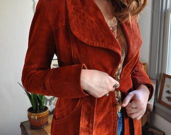 70's Rusty Suede Jacket