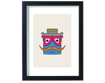 Hebrew Letter ס Printed Drawing
