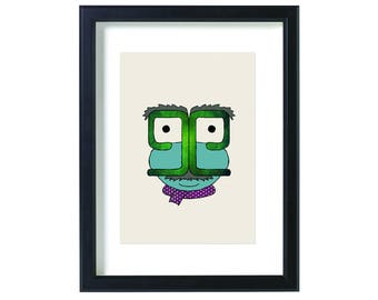 Hebrew Letter פ Printed Drawing