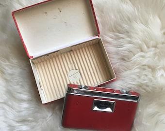 OS / Vintage 1950's Red Dove Opera Glasses - Binoculars / Pocket-Folding Binoculars / Made in Japan