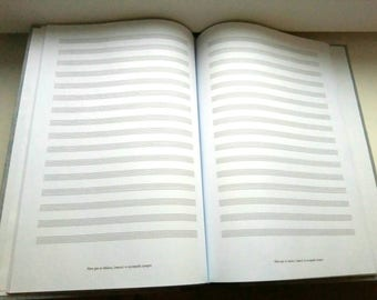 A4 Hardcover music Notebook fully customizable