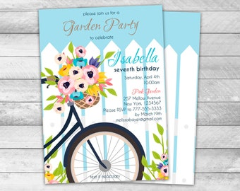 Spring Invitations Etsy