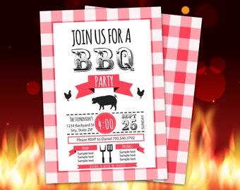 grill invitation etsy
