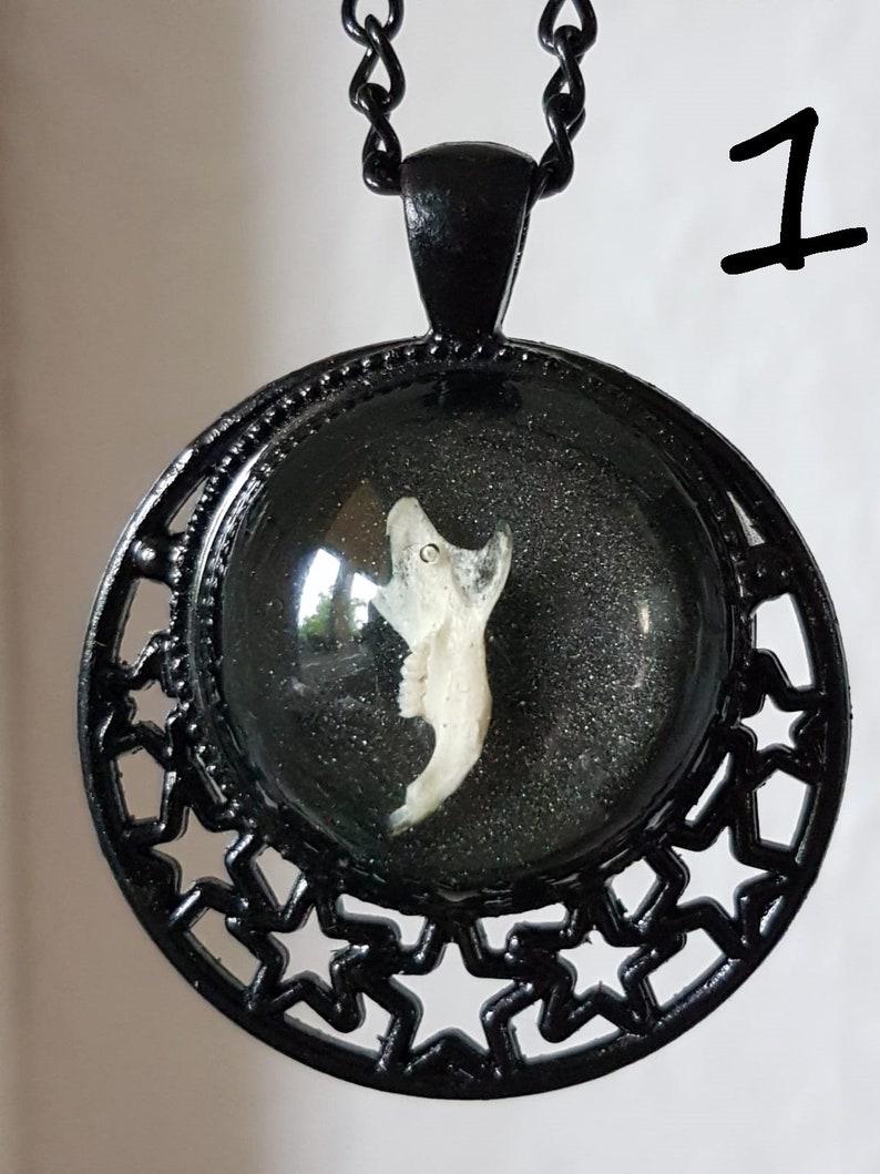Necklace \u2022 Bones \u2022 Mouse pine \u2022 Amulet \u2022 resin