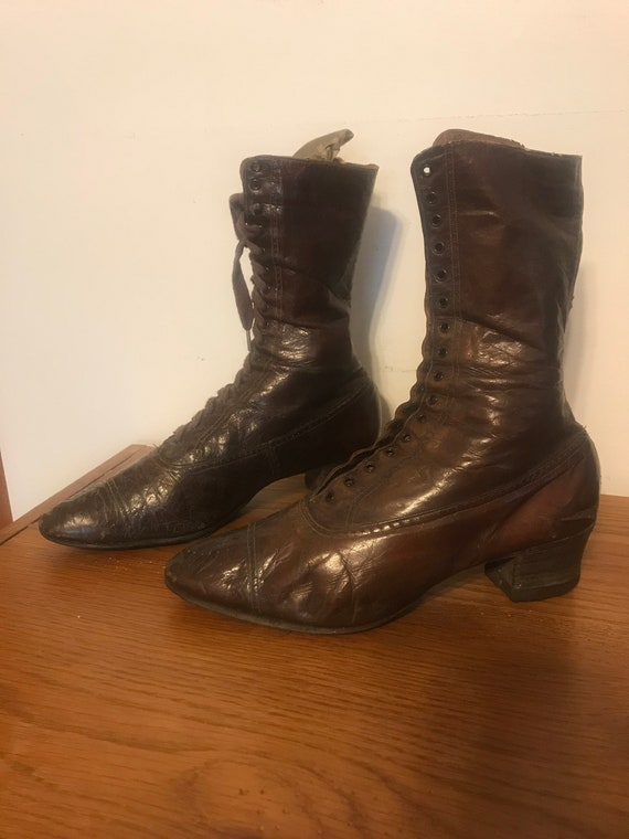 Vintage Leather Granny Boots circa 1900's