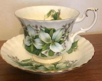 Royal Albert Bone China Teacup and Saucer- Trillium