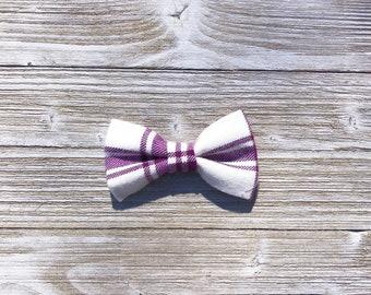 Pawple Plaid Dog Collar Bow Tie