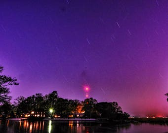 Star Trails and Vibrant Skies - Photo Paper Print