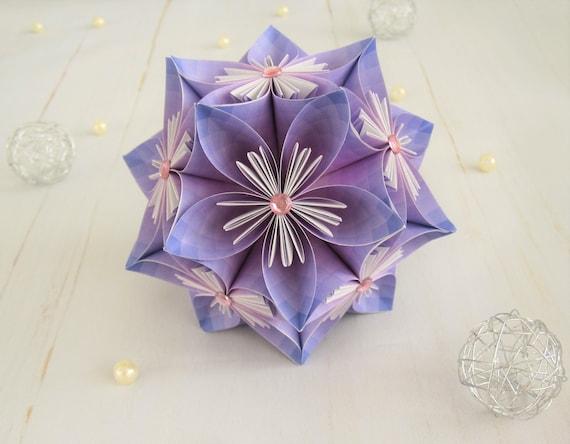 Paper flowers flower ball origami kusudama etsy image 0 mightylinksfo