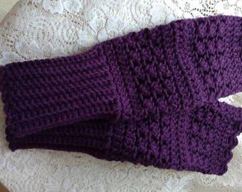 Majestic Purple Fingerless Gloves