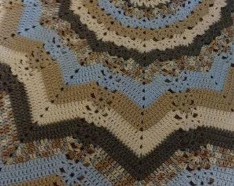 Beautiful 12 point Round Ripple Blanket