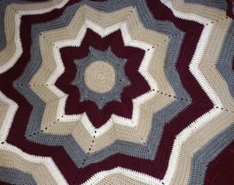 9 Point Round Ripple blanket