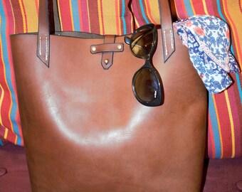 Bold leather bag