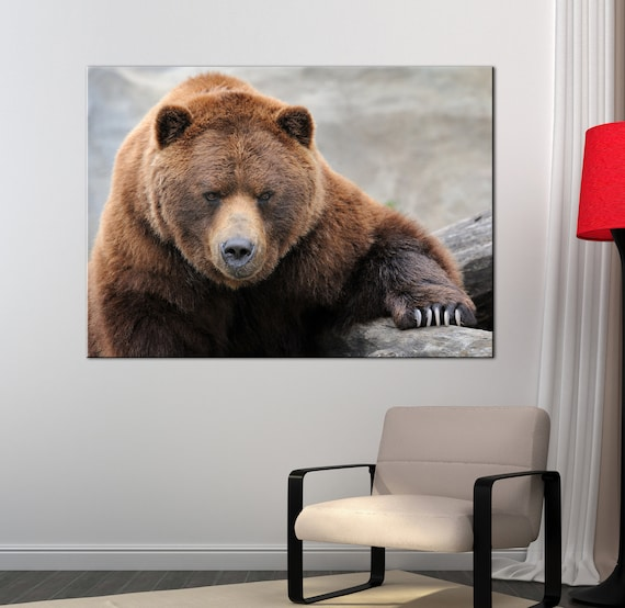 CANVAS Grizzly Bear 2 Art print POSTER