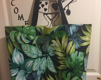 Beach bag / tote bag Tropical Jungle