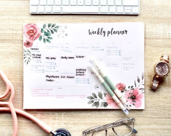 Weekly Planner Pad Etsy