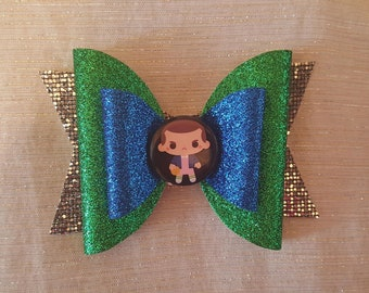 Stranger Things Inspired Bow // Eleven Glitter Bow