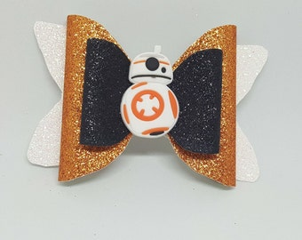 BB8 Inspired Bow // Star Wars Bow // Disney Bows