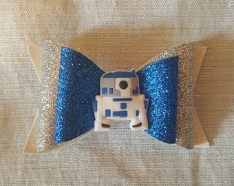 R2-D2 Inspired Bow // Star Wars Bow // Disney Bows