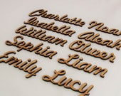 Bespoke Script Font Names Letters, Words Custom MDF Wedding Gifts Birthdays Arts and Crafts Cards Toy Box Christmas Eve Box Bows Wooden FH