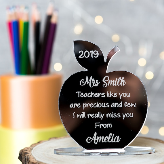 any message design your own wooden thank you plaque PERSONALISED TEACHER PLAQUE gift add your own text End of school term present for school/nursery staff teachers teaching assistants