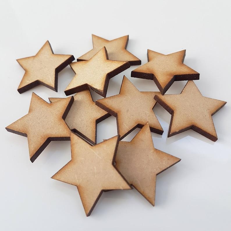 Wooden Mdf Stars Craft Shape Wedding Christmas Tree Decoration Art Craft Box Or Gifts