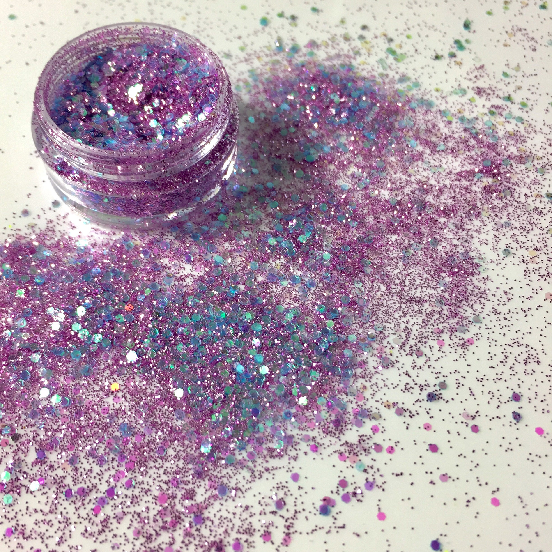 Lilac Flower Mixed Glitter Festival Dance Mua Eye Shadow Etsy