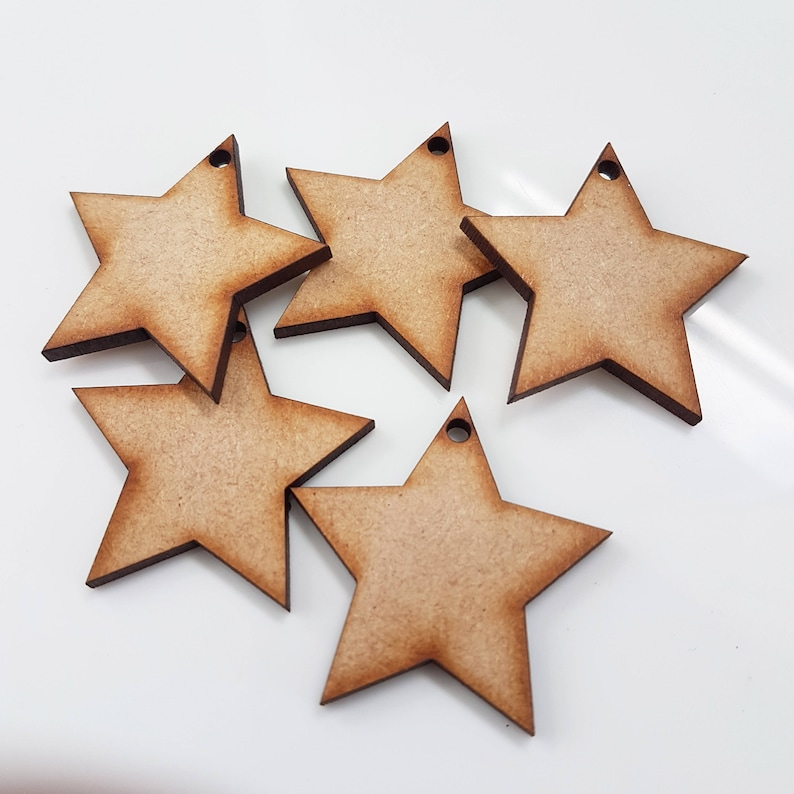 Wooden Mdf Stars With Holes Craft Shape Wedding Christmas Tree Decoration Art Craft Box Or Gifts