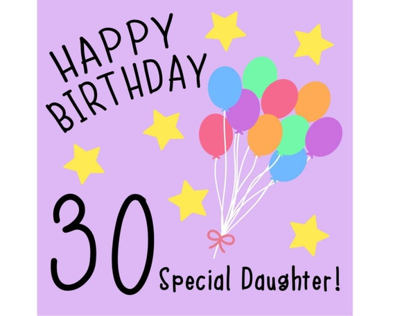 Daughter 30th Birthday Card Special Daughter Etsy