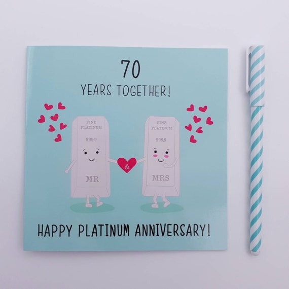 I Love You On Our Platinum Anniversary Together Forever My Wife 70th Wedding Anniversary Card 70 Years
